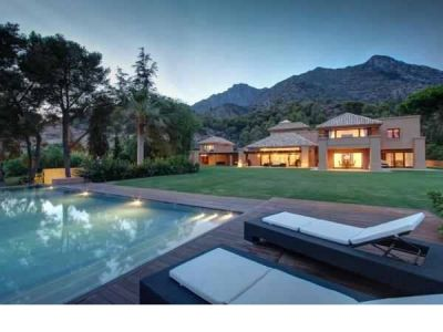 Luxury villa in Marbella with indoor and outdoor pools, Spain